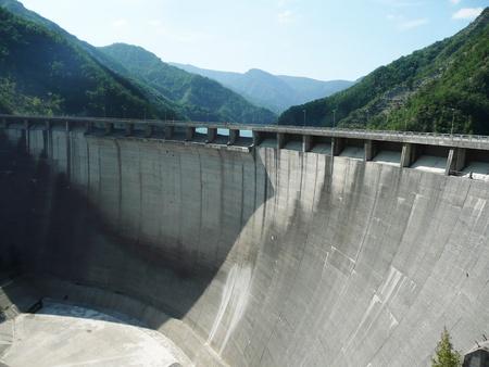 Dam of Lake Ridracoli in the Tuscan-Emilian Apennines