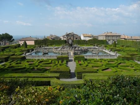 Italian garden in the park of Villa Lante, Bagnaia, Viterbo, Italy Stock Photo