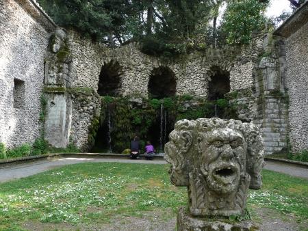 etrurian: Park of Villa Lante, Bagnaia, Viterbo, Italy Stock Photo