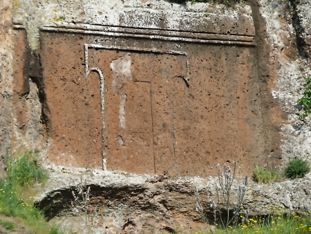 etruscan: Etruscan tomb near Viterbo, Italy Stock Photo