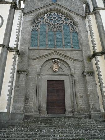 tuscia: Facade of the church of San Martino al Cimino  Lazio  Italy Stock Photo