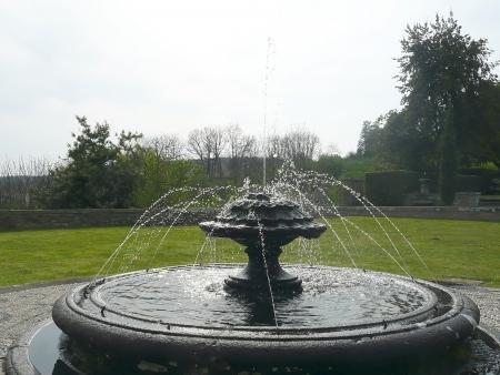 Fontana nel parco di Villa Farnese, Caprarola, Lazio, Italy Stock Photo