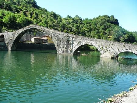 Maddalena bridge, called the Devil s Bridge, Garfagnana, Tuscany, Italy