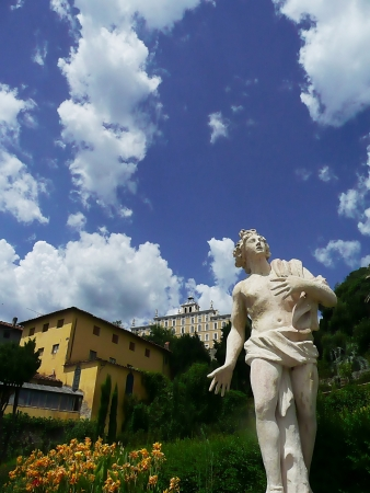 Statue in the park of Villa Garzoni, Collodi, Tuscany, Italy