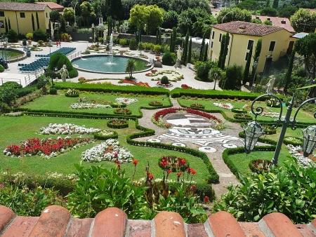 garzoni: Italian garden in the park of Villa Garzoni, Collodi, Tuscany, Italy Editorial