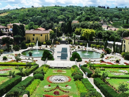 Italian garden in the park of Villa Garzoni, Collodi, Tuscany, Italy