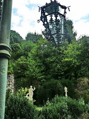 garzoni: Old street lamp in the park of Villa Garzoni, Collodi, Tuscany, Italy