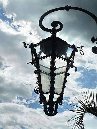 collodi: Old street lamp in the park of Villa Garzoni, Collodi, Tuscany, Italy
