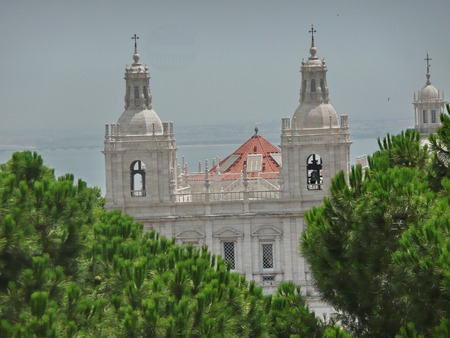 church bells: Church and monastery of Sao Vicente de Fora, Lisbon, Portugal