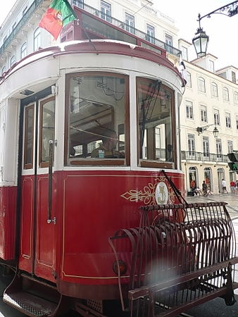 central europe: Tram in Lisbon, Portugal Editorial