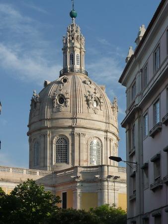 church bells: Portugal, Lisbon, dome of the Igreja da Estrela Stock Photo