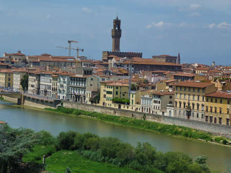 View of Florence from San Niccol� tower, Florence, Italy photo