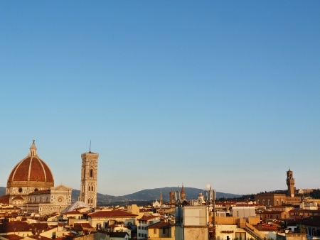 Vie of Florence at sunset, Florence, Italy photo
