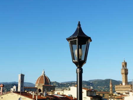 View of Florence from the rooftops, Italy photo