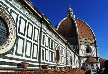 Detail of the Cathedral of Florence; Italy photo