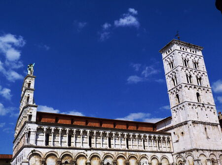 Church of San Michele in Foro, Lucca, Tuscany, Italy photo