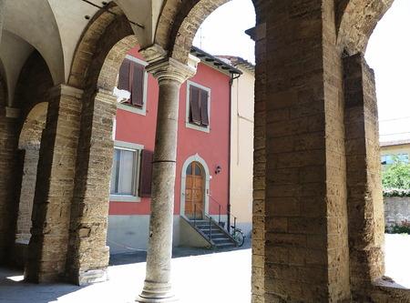 antiquary: Portico of the Abbey of San Zeno, Pisa, Tuscany, Italy