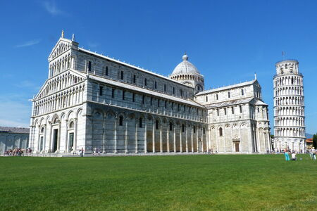 Cathedral and Leaning Tower of Pisa, Italy photo