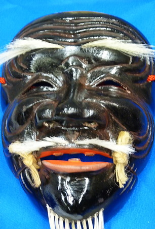 Traditional japanese mask photo
