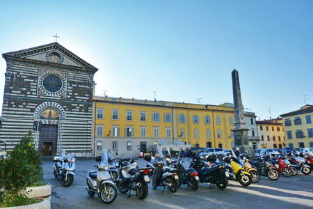 st francis: St. Francis square, Prato, Tuscany, Italy