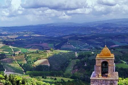 Countryside around San Gimignano, Tuscany, Italy photo