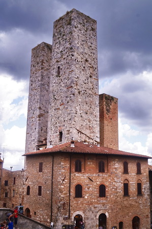 Towers of the historical village of San Gimignano, Tuscany, Italy