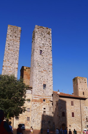 Towers of the historical village of San Gimignano, Tuscany, Italy photo