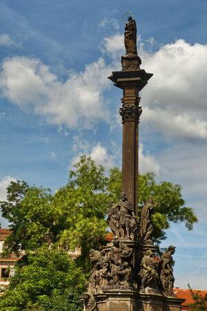 plaga: Columna de la Peste en Praga, Rep�blica Checa