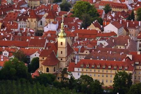 View of Prague from Petrin Tower, Czech Republic