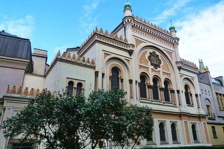 yiddish: Spanish Synagogue in Prague, Czech Republic