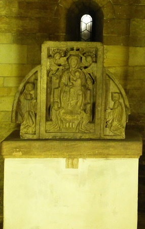 crypt: Sculpture in the Crypt of St. George Basilica in Prague, Czech RepublicS