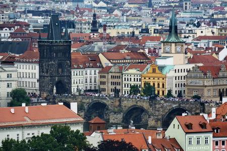 Top view from rhe Castle of Prague, Czech Republic