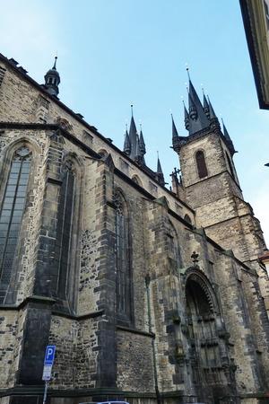 czech women: Church of our lady before Tyn, Prague, Czech Republic Stock Photo