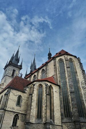 tyn: Czech Republic, Prague, church of our lady before Tyn Stock Photo