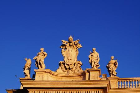bernini: Detail of Bernini colonnade in St. Peter Square, Vatican City, Rome Italy