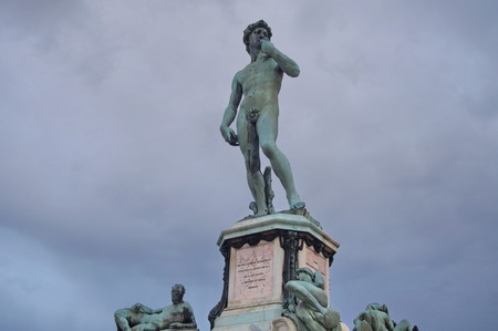michelangelo: Statue of David at Piazzale Michelangelo, Florence Stock Photo
