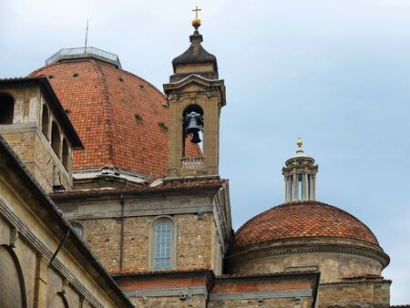 Detail of the church of San Lorenzo, Florence, Italy
