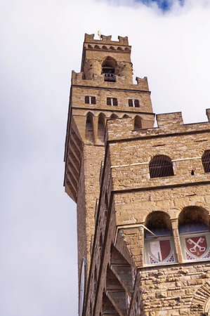 Detail of Palazzo Vecchio, Florence, Italy