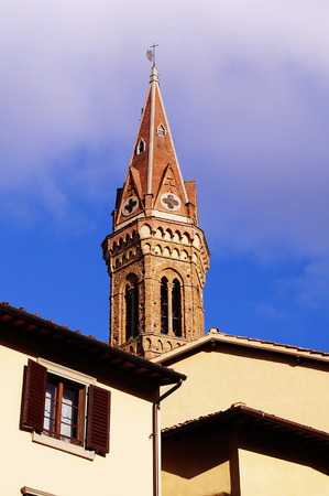 fraternity: Bell Tower of the Badia Fiorentina in Florence, Italy