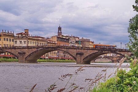 florence italy: Carraia bridge Florence Italy