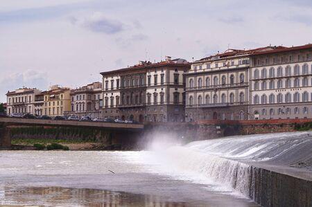 river arno: Along the river Arno Florence Italy