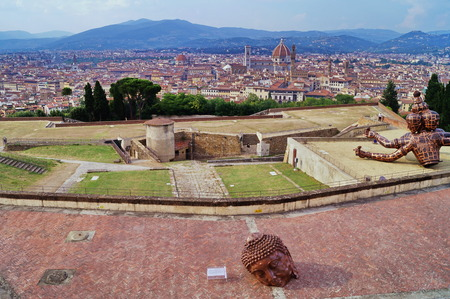 forte: View of Florence from Forte Belvedere Italy
