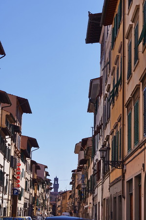 florence: Palazzuolo street, Florence, Italy