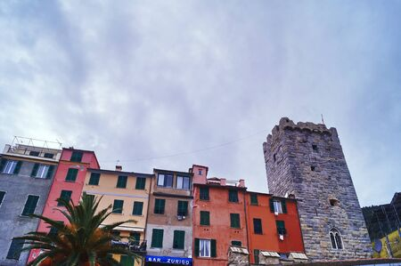 liguria: View of Portovenere, Cinque Terre, Liguria, Italy Editorial