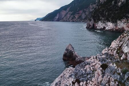 liguria: Cliffs in Portovenere, Liguria, Italy Stock Photo