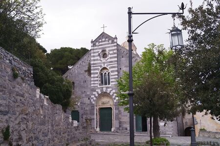 lawrence: Facade of the church of St. Lawrence, Portovenere, Liguria, Italy