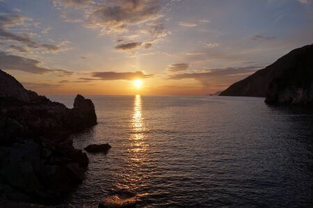 liguria: Sunset at bay of Portovenere, Liguria, Italy
