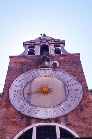 san giacomo: Bell tower of the church os San Giacomo di Rialto, Venice, Italy