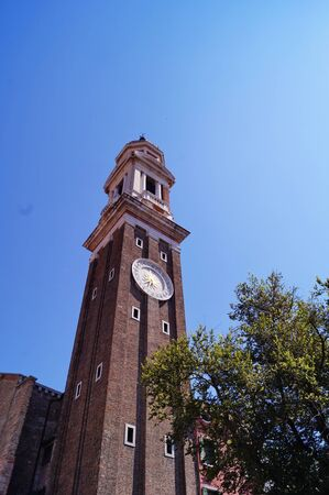 apostles: Bell tower of the church of the Saint Apostles, Venice, Italy