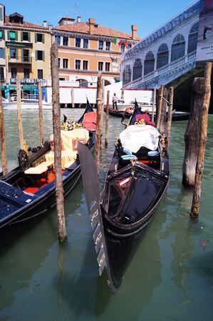 rialto: Detail of Rialto bridge, Venice, Italy
